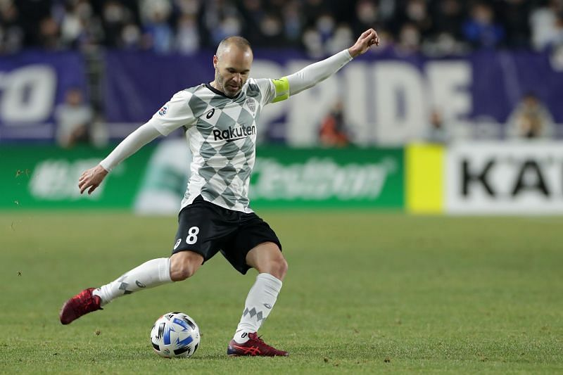 Iniesta currently plays for Japanese club Vissel Kobe.