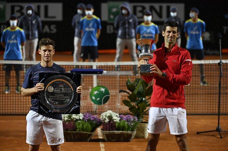 Novak Djokovic with his winner