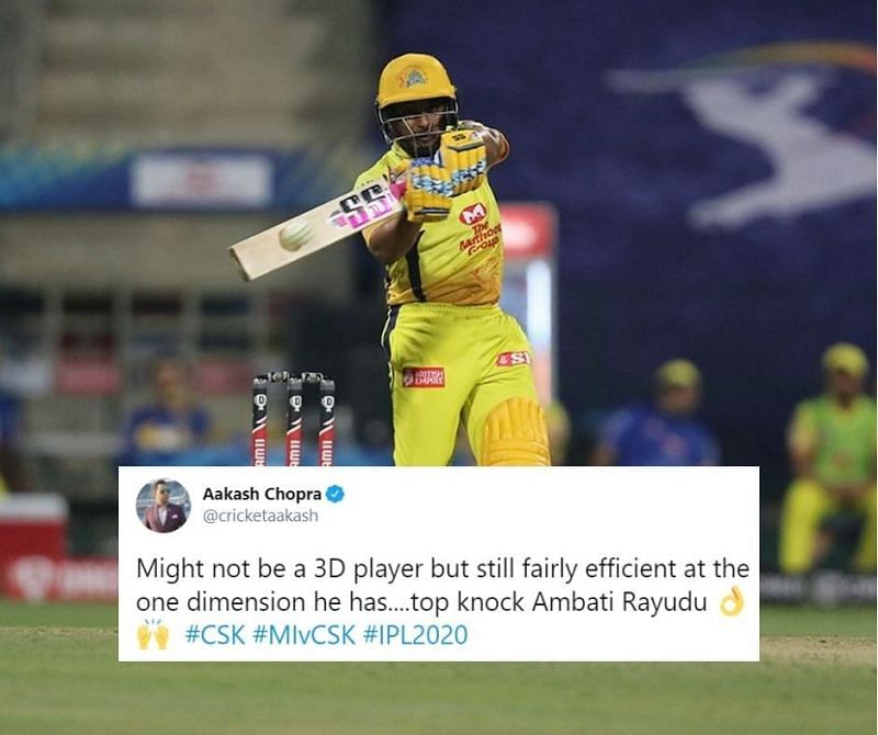 Ambati Rayudu rescued CSK after the openers were dismissed early | IPL 2020