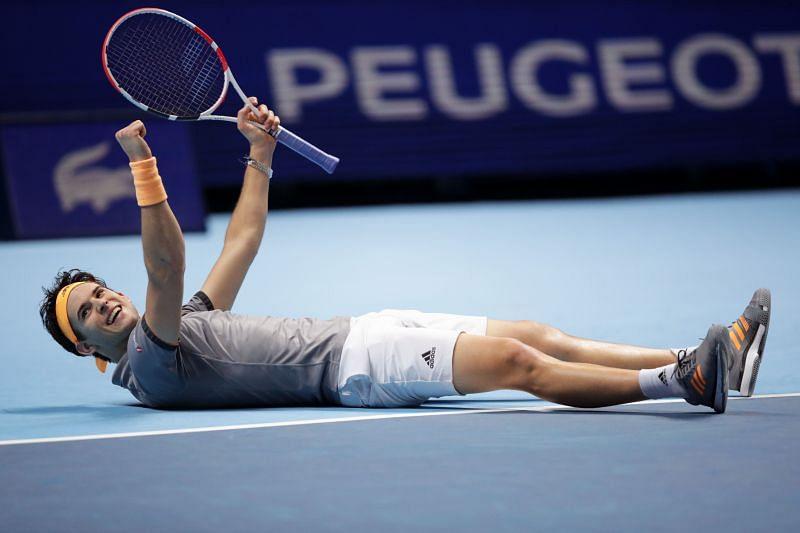 Dominic Thiem beat Novak Djokovic in the ATP World Tour Finals last year