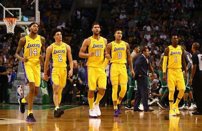 The LA Lakers during Kyle Kuzma