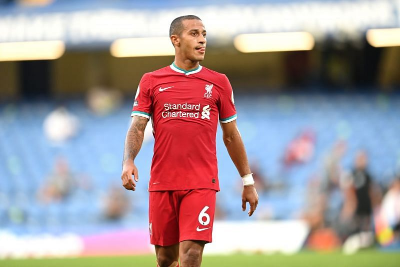 Thiago Alcantara is in line to make his first start for Liverpool