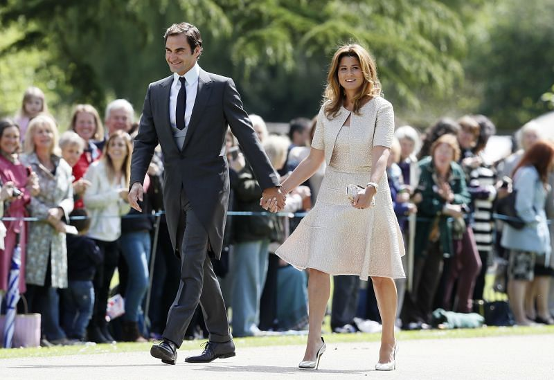 Roger Federer with wife Mirka.