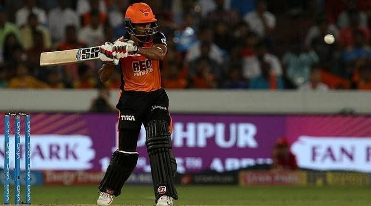 Wriddhiman Saha was sent in to bat at the No.4 position by Sunrisers Hyderabad