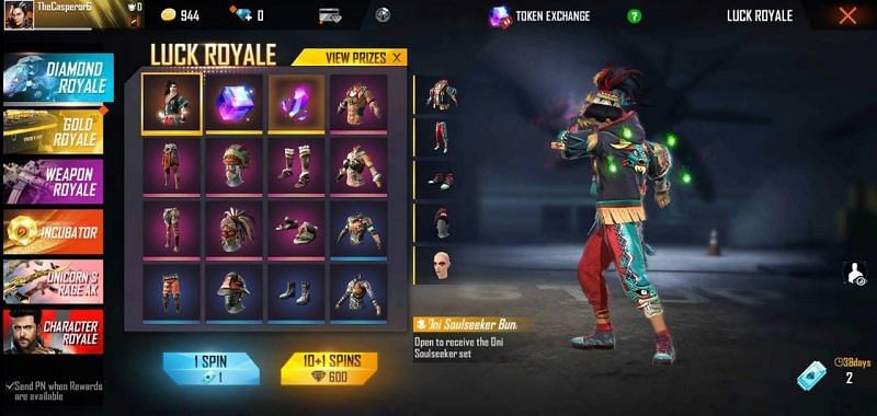 Diamond Royale gives out many cosmetics and other items to the players in Free Fire