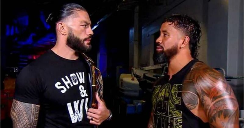 Roman Reigns and Jey Uso.