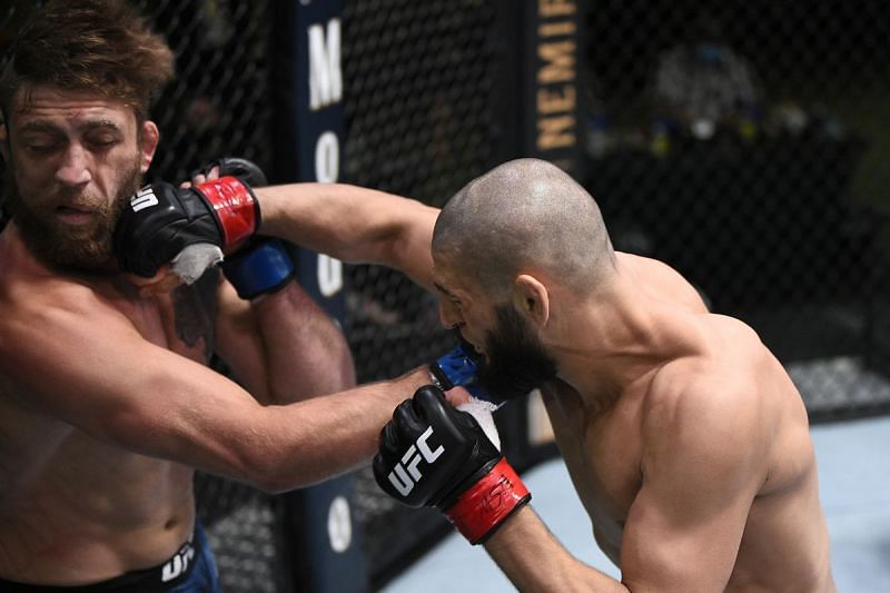 Khamzat Chimaev needed just 17 seconds to knock out UFC veteran Gerald Meerschaert