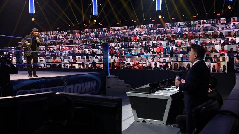 Sami Zayn on SmackDown.