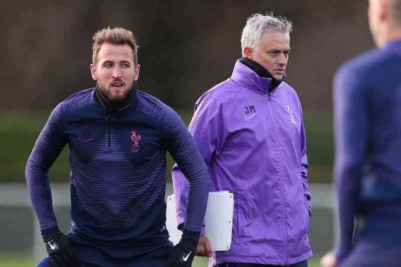 Tottenham Hotspur manager Jose Mourinho during a training session.