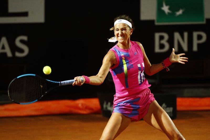 : Victoria Azarenka during her win over Sofia Kenin at the Italian Open in Rome