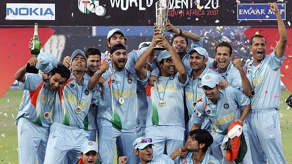 MS Dhoni-led India to victory at the inaugural World T20 in 2007 (Image Credits: Circle of Cricket)