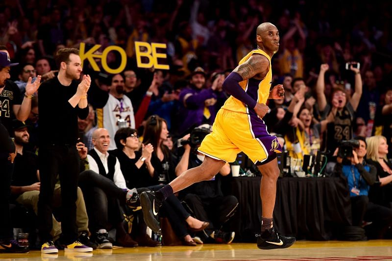 Kobe Bryant in his last game for the LA Lakers