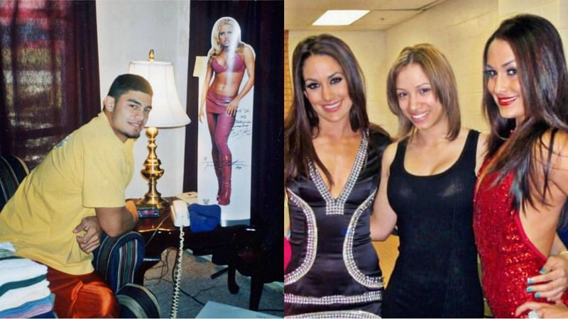 Roman Reigns and Sasha Banks as WWE fans