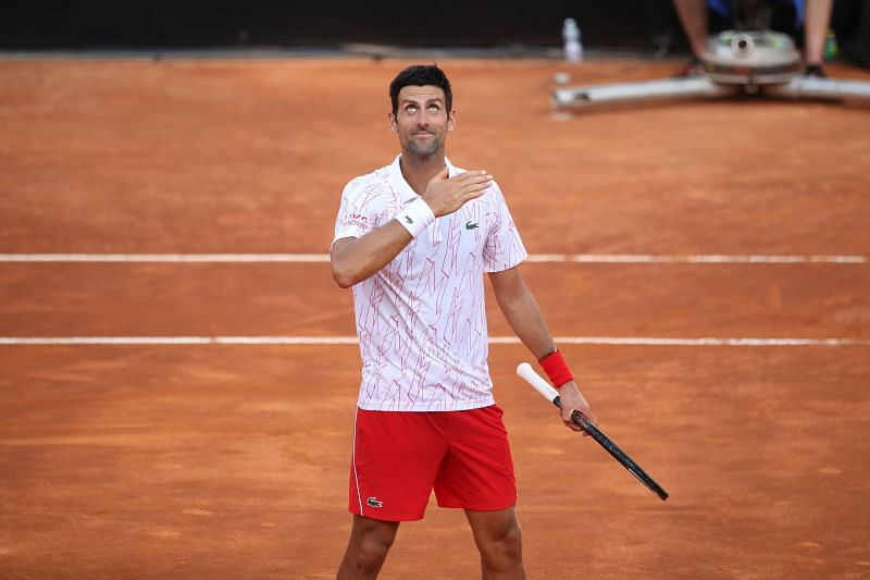Novak Djokovic at Rome Masters 2020