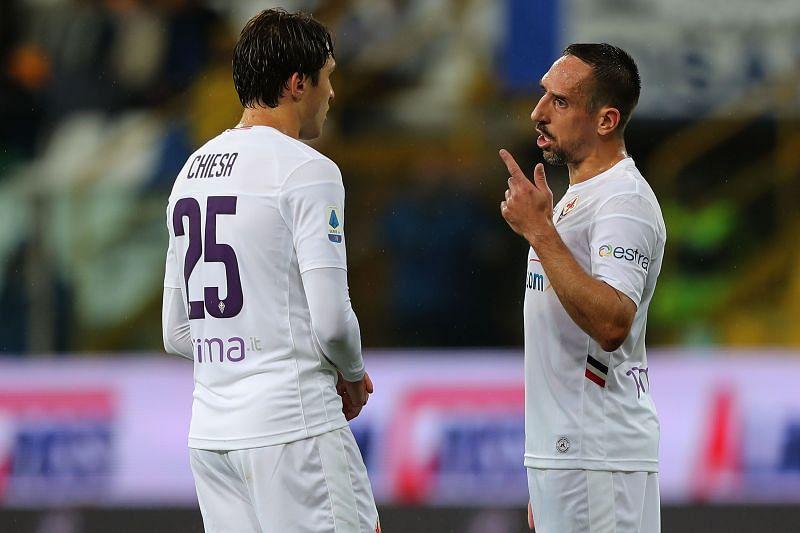 Fiorentina stars Franck Ribery and Federico Chiesa