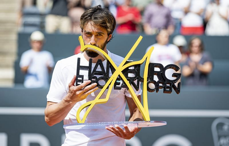 Nikoloz Basilashvili is a 2-time Hamburg Open champion.