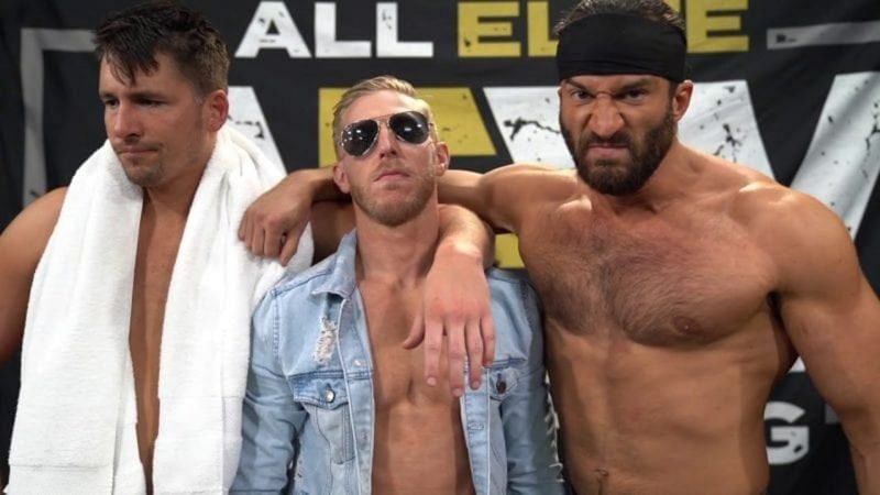 Orange Cassidy with Trent and Chuck in AEW
