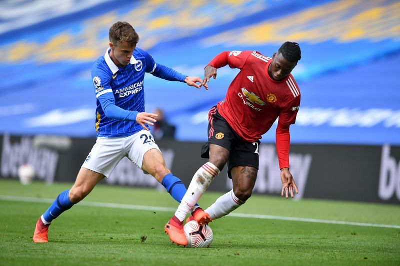 Aaron Wan-Bissaka looked a shadow of his former self against Brighton