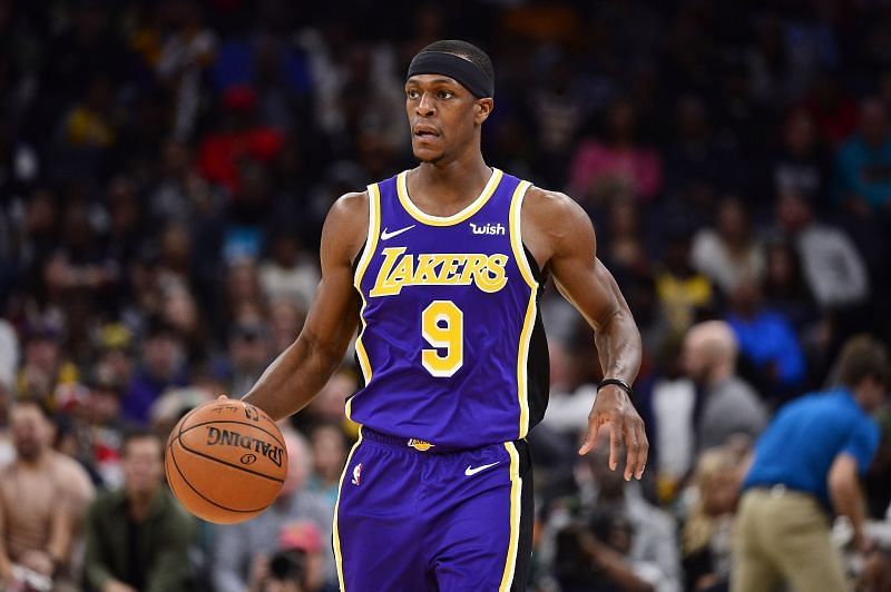 Rajon Rondo in action for the LA Lakers