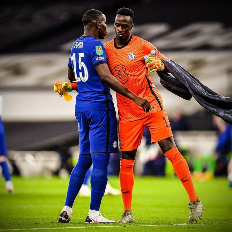 Edouard Mendy made two great saves against Tottenham.