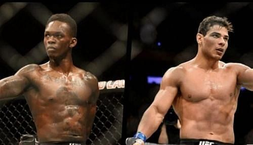 Israel Adesanya and Paulo Costa