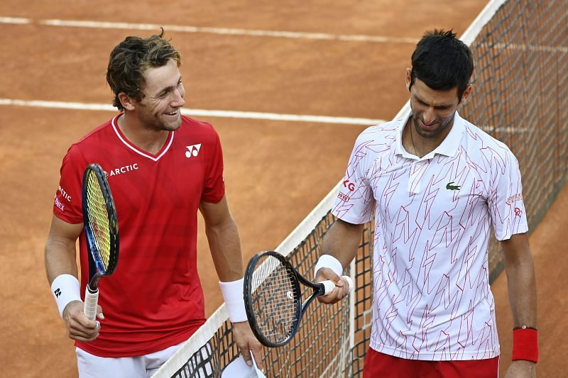 Casper Ruud lost to Novak Djokovic in the Italian Open semifinals last week