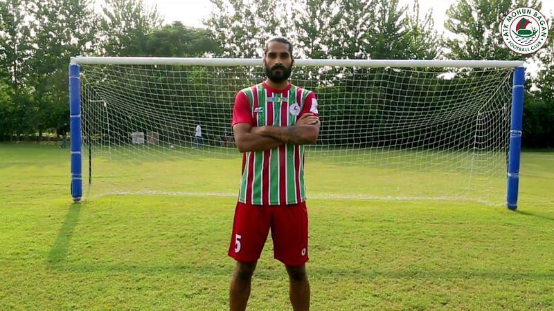 Sandesh Jhingan: (Image Credits: ATK Mohun Bagan FC)