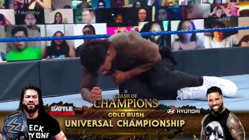 Jey Uso will meet his cousin Roman Reigns at Clash of Champions for the Universal Title