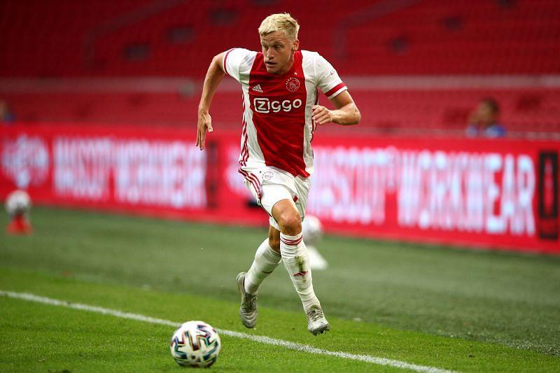 New Manchester United signing Donny van de Beek in action for Ajax
