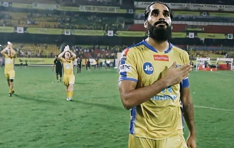 Sandesh Jhingan: A fan favorite at Kerala Blasters. (Photo: Twitter)