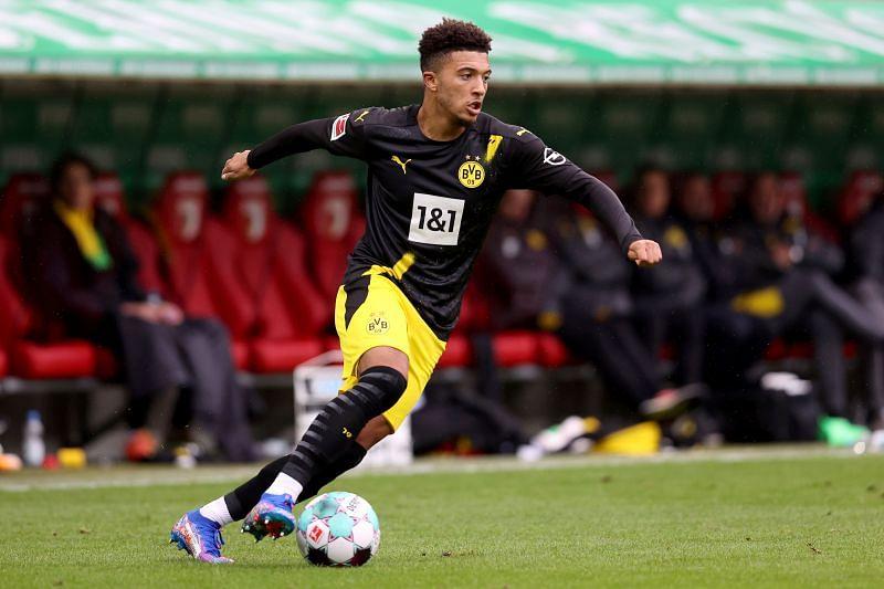 Sancho in action for Borussia Dortmund