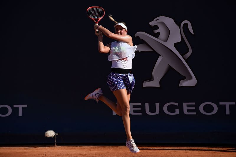 Donna Vekic at the Palermo Open 2020