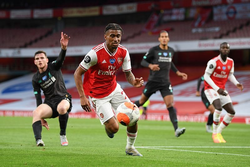 Reiss Nelson scored the winner against Liverpool during their last match in the 2019-20 campaign.