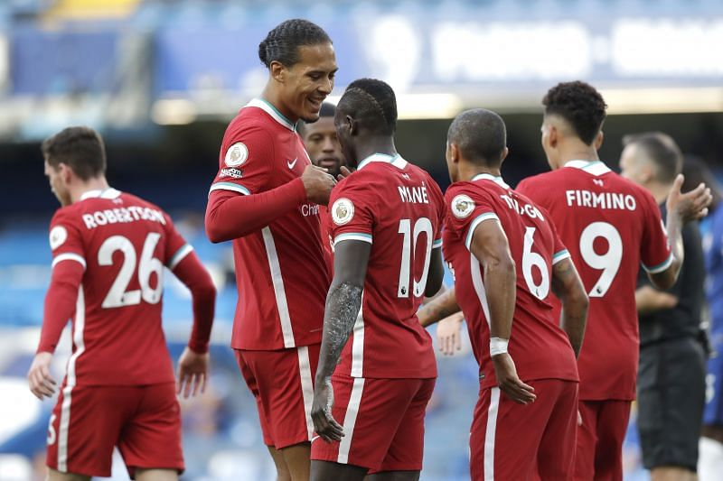 Virgl Van Dijk and his Liverpool teammates