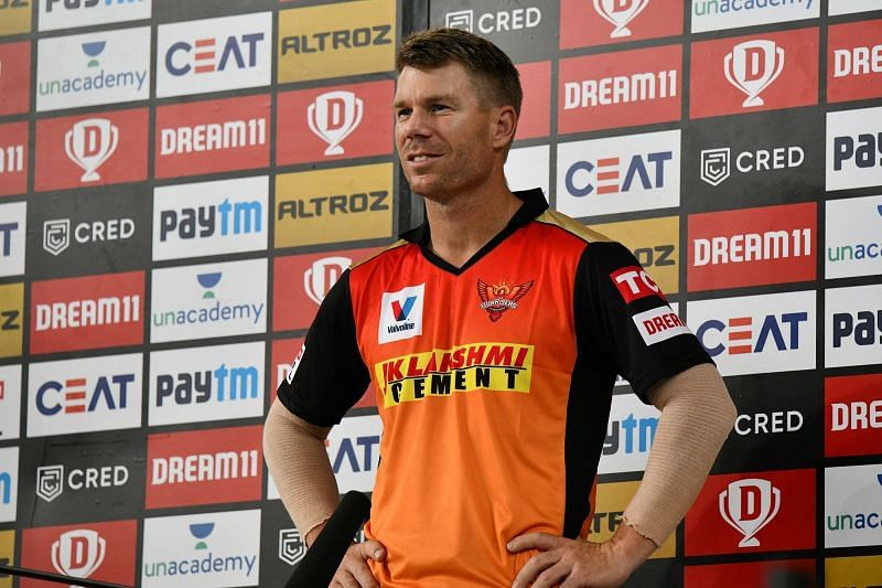 David Warner was unlucky to get out. (Image Credits: IPLT20.com)