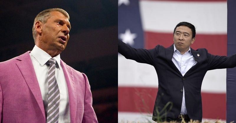 Is Andrew Yang coming for Vince McMahon? (Pic Source: WWE/Associated Press)