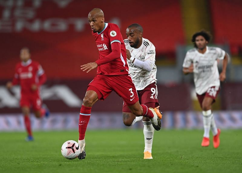 After starring at centre-back against Chelsea, Fabinho dominated the midfield against Arsenal