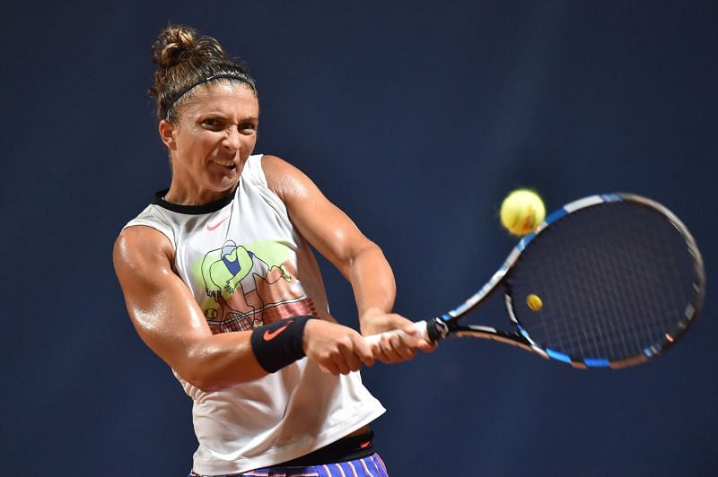 Sara Errani at the Palermo Ladies Open last month