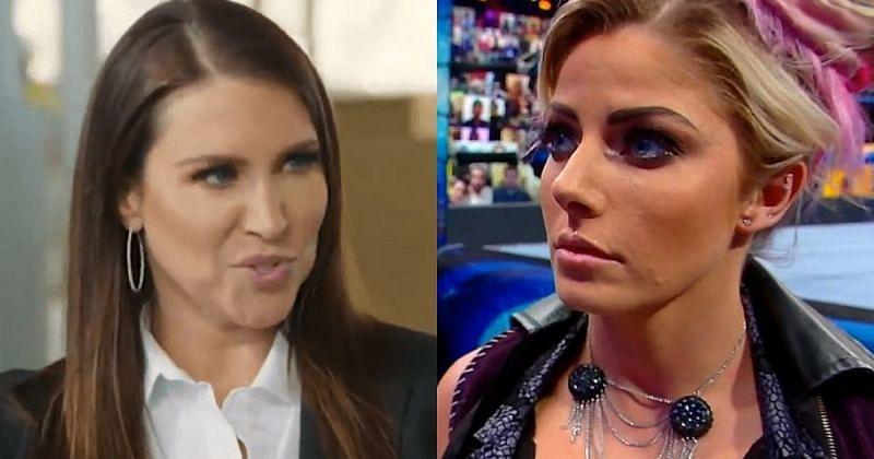 Stephanie McMahon and Alexa Bliss.