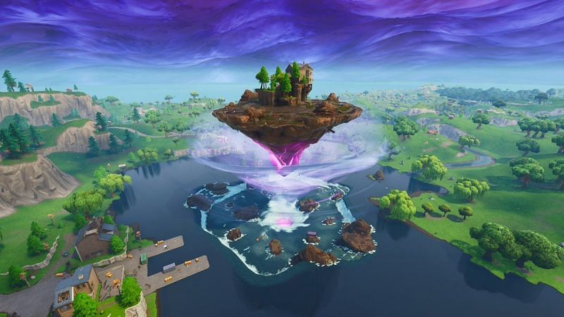 Loot Lake fused with Kevin the Cube (Image credit: Pinterest)