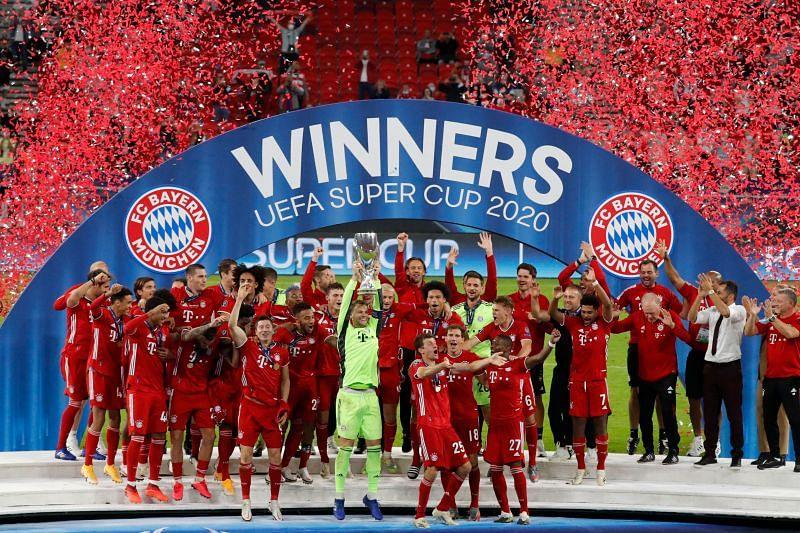 Bayern Munich are winners of the UEFA Super Cup