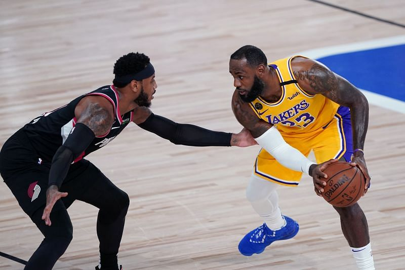 LeBron James and Carmelo Anthony faced off in the first round of the NBA 20-21 playoffs