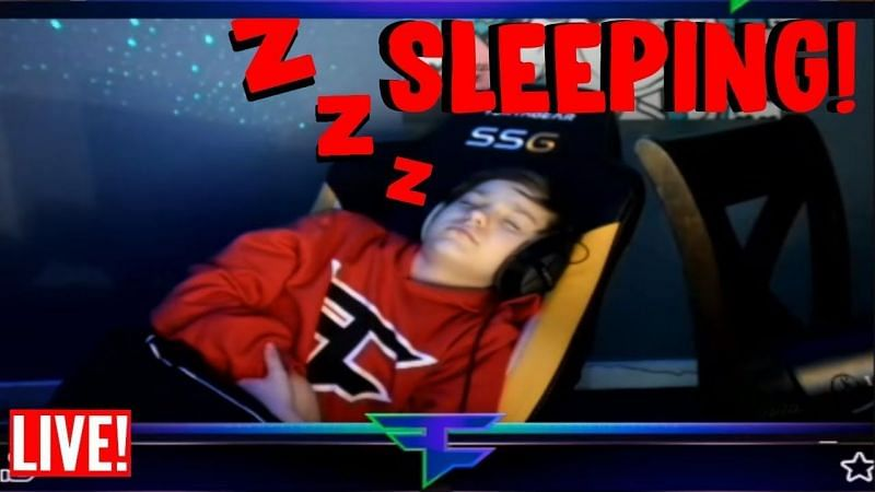 There have been many streamers who have ended up sleeping on live-stream (Image Credits: REAZYt, YouTube)