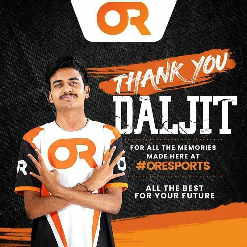 Daljitsk has left Orange Rock Esports
