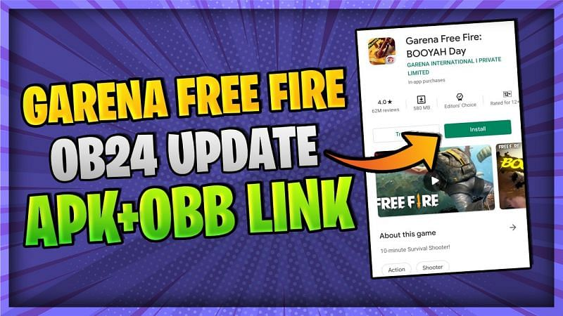 Free Fire OB24 update APK and OBB download link