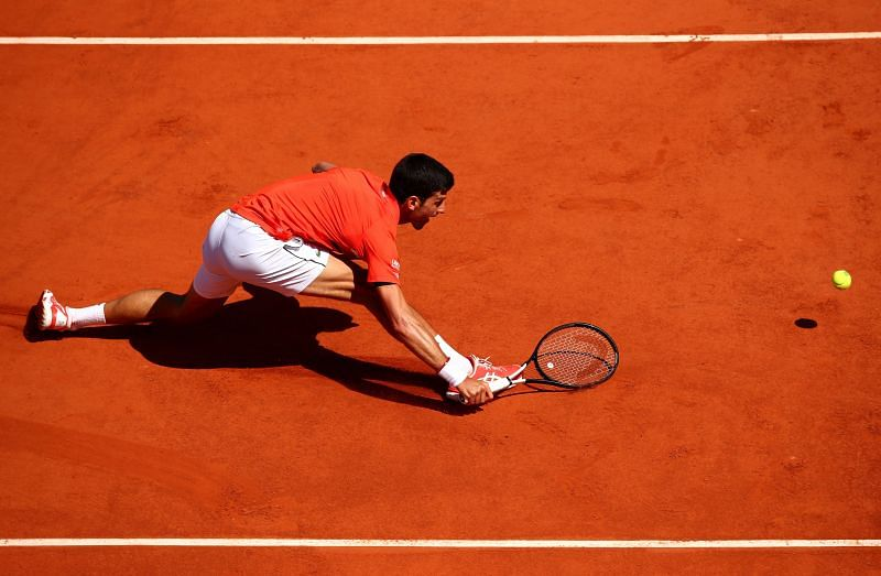 Novak Djokovic at the 2019 French Open