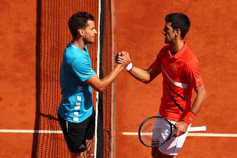 Dominic Thiem beat Novak Djokovic at the French Open last year