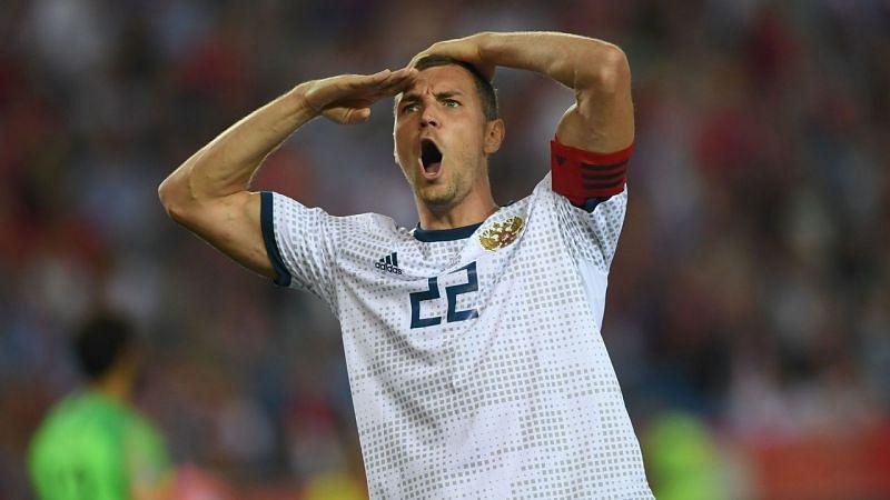 Artyom Dzyuba scored twice in Russia