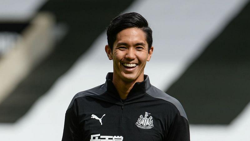 Newcastle United forward Yoshinori Muto