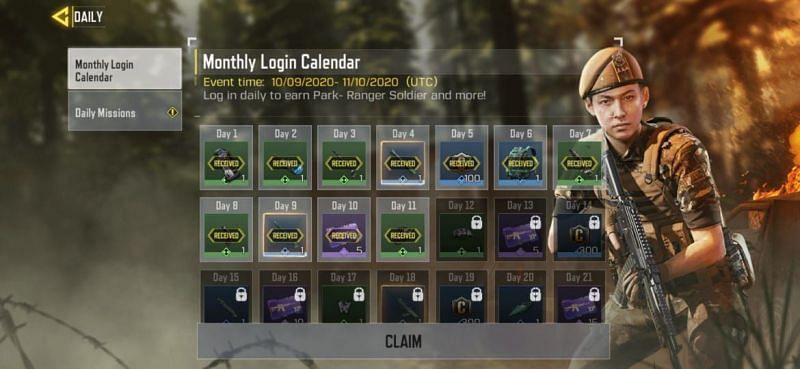 Login calendar